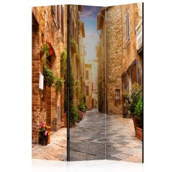 Paraván - Colourful Street in Tuscany [Room Dividers] 3 részes  135x172 cm