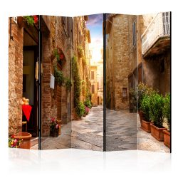 Paraván - Colourful Street in Tuscany II [Room Dividers] 5 részes 225x172 cm