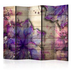 Paraván - Purple Memory II [Room Dividers] 5 részes 225x172 cm
