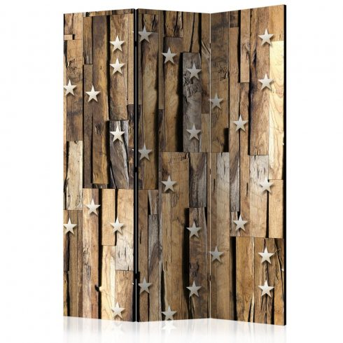 Paraván - Wooden Constellation [Room Dividers] 3 részes  135x172 cm  -  ajandekpont.hu