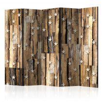 Paraván - Wooden Constellation II [Room Dividers] 5 részes 225x172 cm