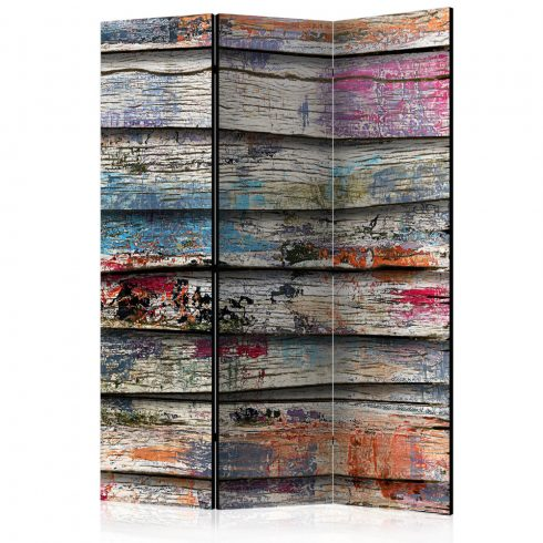 Paraván - Colourful Wood [Room Dividers] 3 részes  135x172 cm  -  ajandekpont.hu