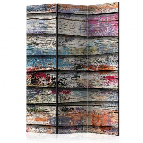 Paraván - Colourful Wood [Room Dividers] 3 részes  135x172 cm  -  ajandekpont.hu