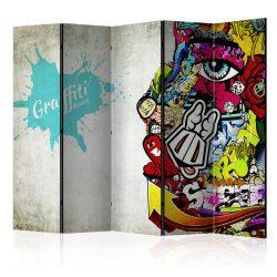Paraván - Graffiti Beauty [Room Dividers] 5 részes 225x172 cm