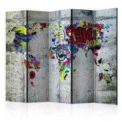 Paraván - Graffiti World [Room Dividers] 5 részes 225x172 cm