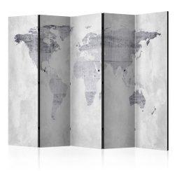 Paraván - Concrete Map [Room Dividers] 5 részes 225x172 cm