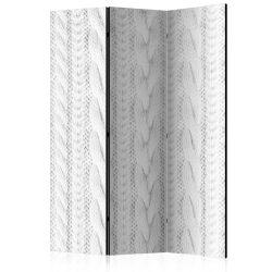 Paraván - White Knit [Room Dividers] 3 részes  135x172 cm