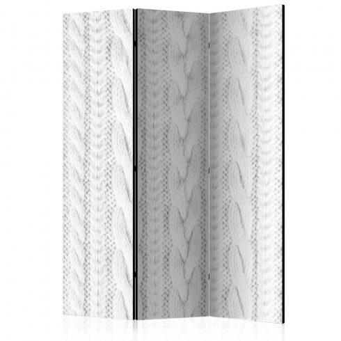 Paraván - White Knit [Room Dividers] 3 részes  135x172 cm  -  ajandekpont.hu