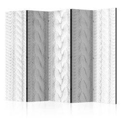 Paraván - White Knit II [Room Dividers] 5 részes 225x172 cm