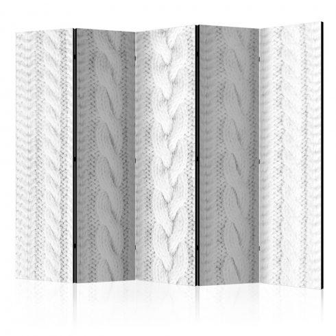 Paraván - White Knit II [Room Dividers] 5 részes 225x172 cm  -  ajandekpont.hu