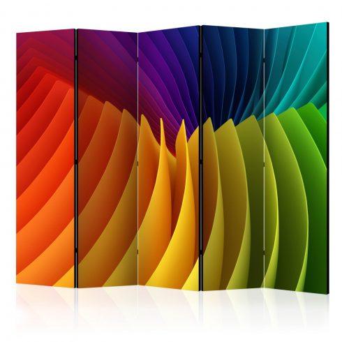 Paraván - Rainbow Wave II [Room Dividers] 5 részes 225x172 cm  -  ajandekpont.hu