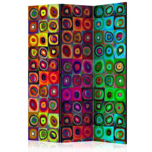Paraván - Colorful Abstract Art  [Room Dividers] 3 részes  135x172 cm  -  ajandekpont.hu