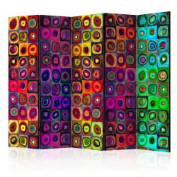 Paraván - Colorful Abstract Art II [Room Dividers] 5 részes 225x172 cm