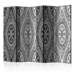 Paraván - Ethnic Monochrome II [Room Dividers] 5 részes 225x172 cm
