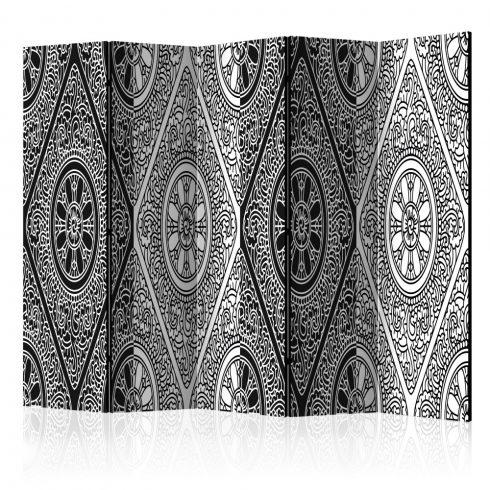 Paraván - Ethnic Monochrome II [Room Dividers] 5 részes 225x172 cm  -  ajandekpont.hu