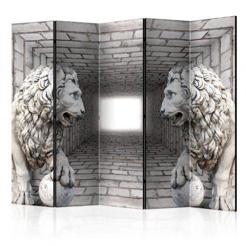Paraván - Stone Lions II [Room Dividers] 5 részes 225x172 cm  -  ajandekpont.hu