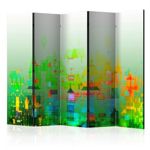 Paraván - Abstract City II [Room Dividers] 5 részes 225x172 cm  -  ajandekpont.hu