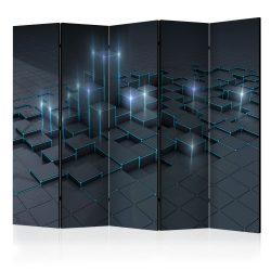 Paraván - Black City II [Room Dividers] 5 részes 225x172 cm