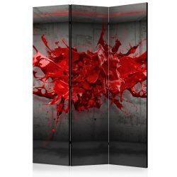 Paraván - Red Ink Blot [Room Dividers] 3 részes  135x172 cm