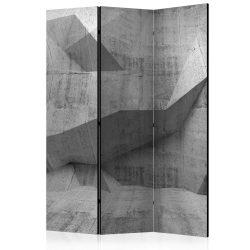 Paraván - Concrete Geometry [Room Dividers] 3 részes  135x172 cm