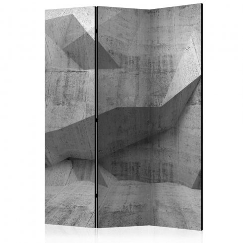 Paraván - Concrete Geometry [Room Dividers] 3 részes  135x172 cm  -  ajandekpont.hu