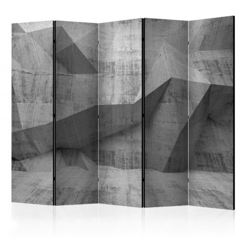 Paraván - Concrete Geometry II [Room Dividers] 5 részes 225x172 cm  -  ajandekpont.hu