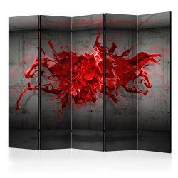 Paraván - Red Ink Blot II [Room Dividers] 5 részes 225x172 cm