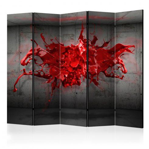 Paraván - Red Ink Blot II [Room Dividers] 5 részes 225x172 cm  -  ajandekpont.hu