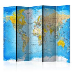 Paraván - World Classic Map  [Room Dividers] 5 részes 225x172 cm