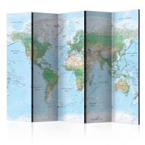 Paraván - World Map [Room Dividers] 5 részes 225x172 cm
