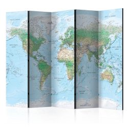 Paraván - World Map [Room Dividers] 5 részes 225x172 cm