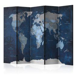 Paraván - Dark Blue World [Room Dividers] 5 részes 225x172 cm