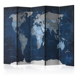 Paraván - Dark Blue World [Room Dividers] 5 részes 225x172 cm