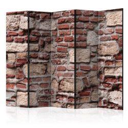 Paraván - Vintage Wall II [Room Dividers] 5 részes 225x172 cm