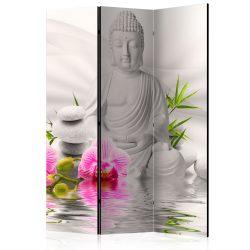 Paraván - Buddha and Orchids [Room Dividers] 3 részes  135x172 cm  -  ajandekpont.hu