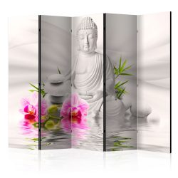 Paraván - Buddha and Orchids II [Room Dividers] 5 részes 225x172 cm