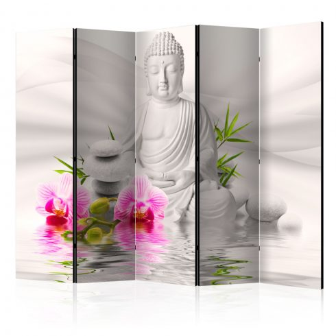 Paraván - Buddha and Orchids II [Room Dividers] 5 részes 225x172 cm  -  ajandekpont.hu