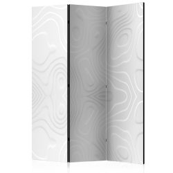 Paraván - Room divider - White waves I 3 részes  135x172 cm
