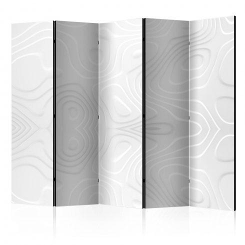 Paraván - Room divider - White waves II 5 részes 225x172 cm  -  ajandekpont.hu