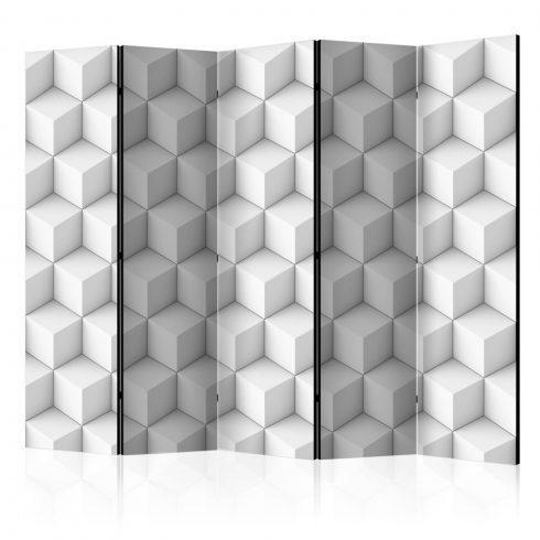 Paraván - Room divider – Cube II 5 részes 225x172 cm  -  ajandekpont.hu