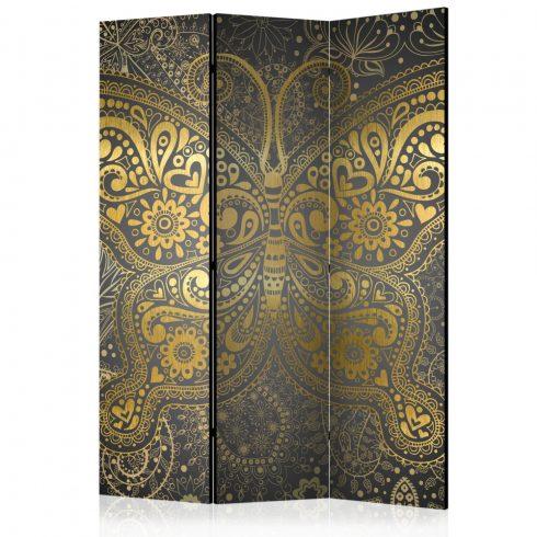 Paraván - Golden Butterfly [Room Dividers] 3 részes  135x172 cm  -  ajandekpont.hu