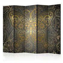 Paraván - Golden Butterfly II [Room Dividers] 5 részes 225x172 cm