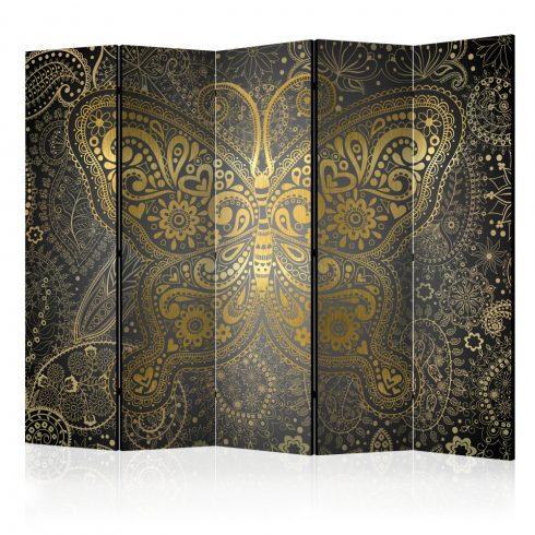 Paraván - Golden Butterfly II [Room Dividers] 5 részes 225x172 cm  -  ajandekpont.hu