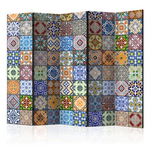 Paraván - Colorful Mosaic II [Room Dividers] 5 részes 225x172 cm  -  ajandekpont.hu
