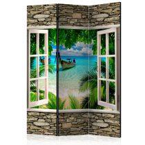 Paraván - Tropical Beach [Room Dividers] 3 részes  135x172 cm