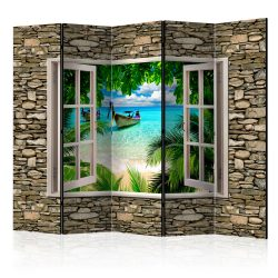 Paraván - Tropical Beach II [Room Dividers] 5 részes 225x172 cm