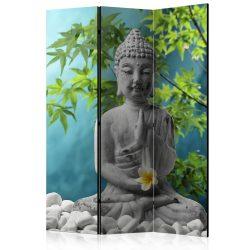 Paraván - Meditating Buddha [Room Dividers] 3 részes  135x172 cm