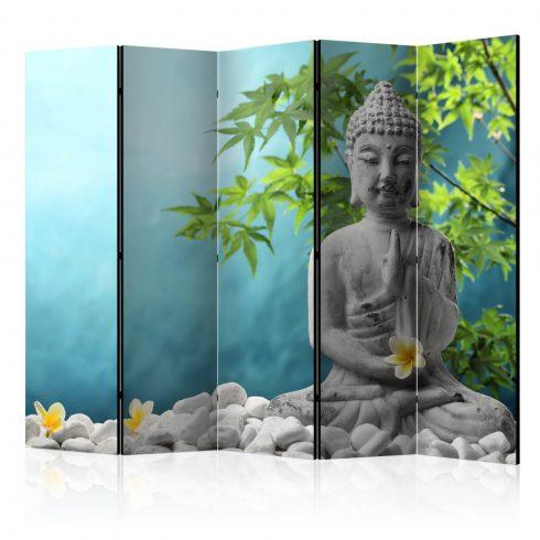 Paraván - Meditating Buddha II [Room Dividers] 5 részes 225x172 cm  -  ajandekpont.hu