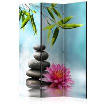 Paraván - Water Lily and Zen Stones [Room Dividers] 3 részes  135x172 cm
