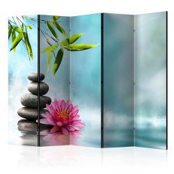 Paraván - Water Lily and Zen Stones II [Room Dividers] 5 részes 225x172 cm